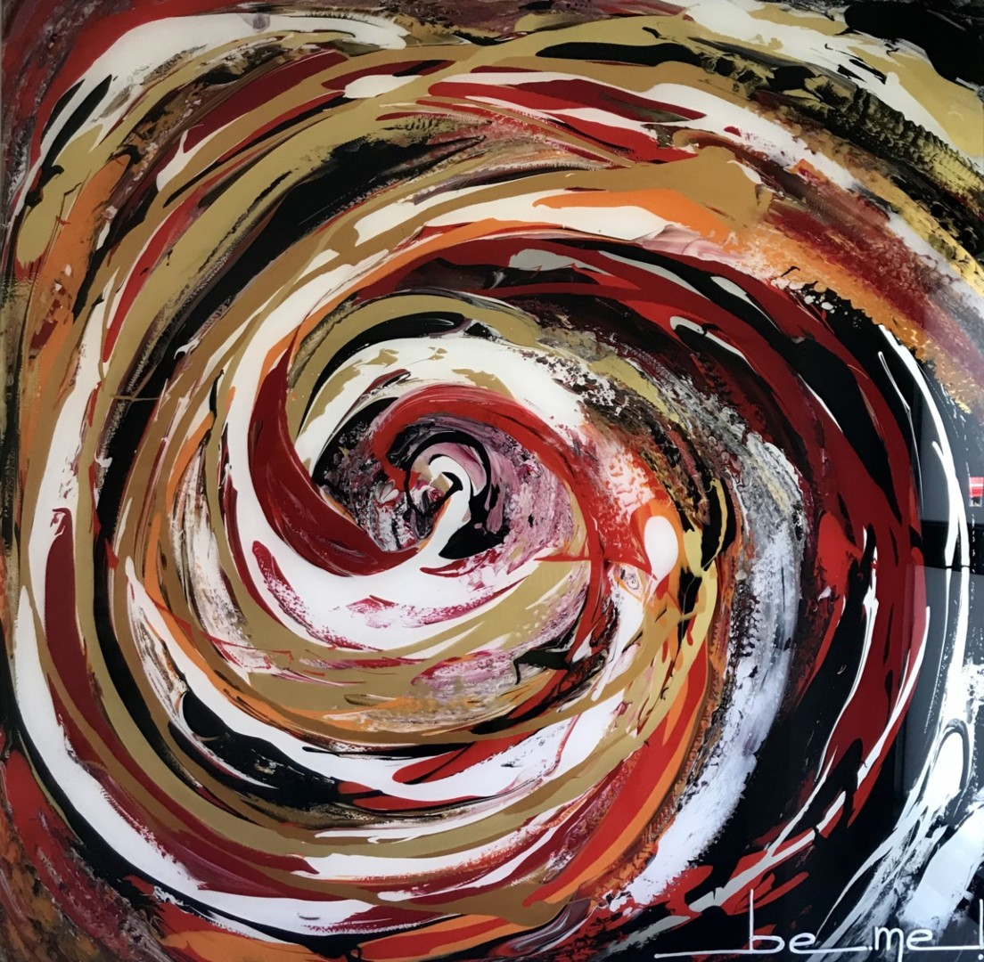 The core is Love ~ 100 x 100 cm ~ Painting by Be-Me-L By Kristin ...