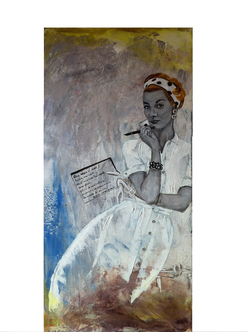 Profumo Di Donna Scent Of A Woman Painting By Elisabetta Grappasonni Artmajeur