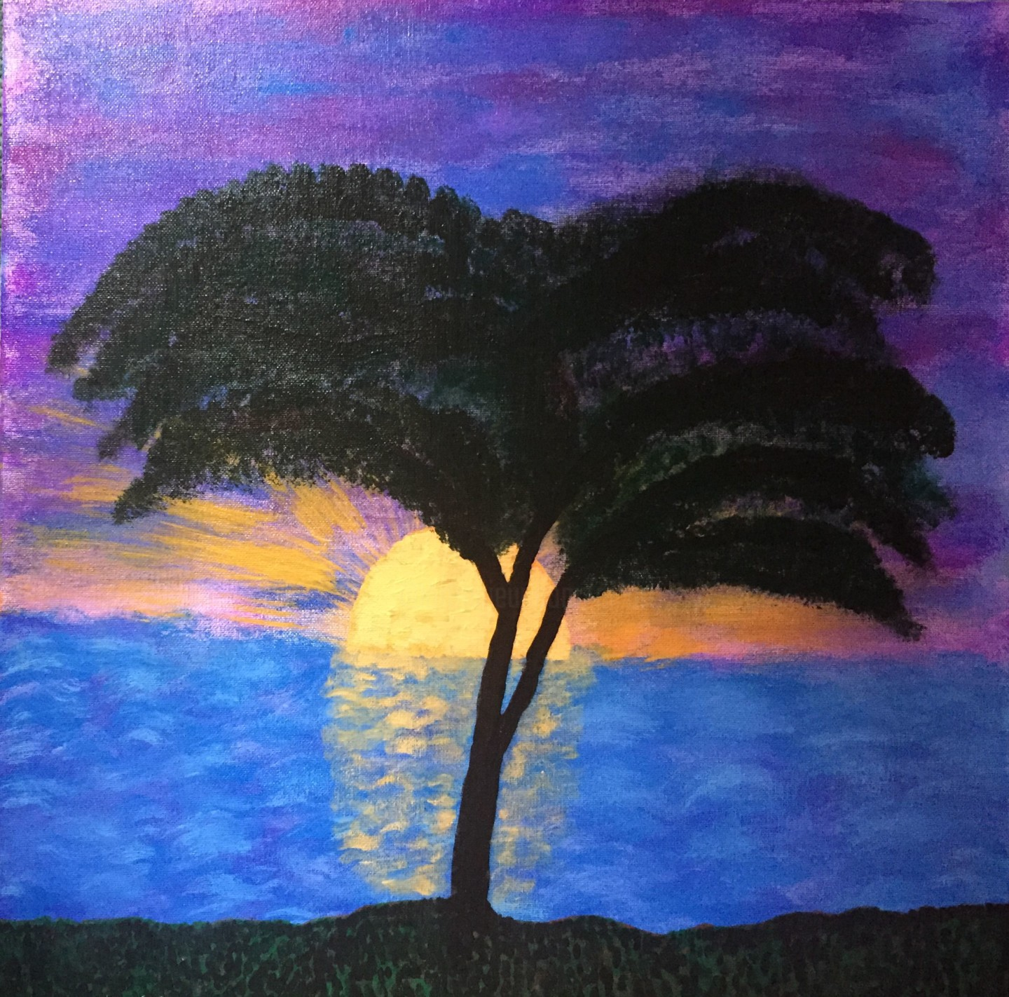 Purple Sunset Painting By Giart Artmajeur