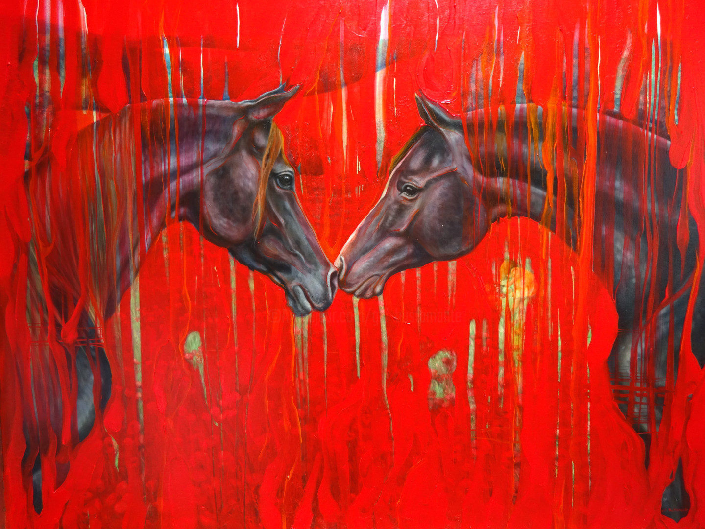 Equine Dreaming A Big Red Horse Painting Painting By Gill Bustamante Artmajeur