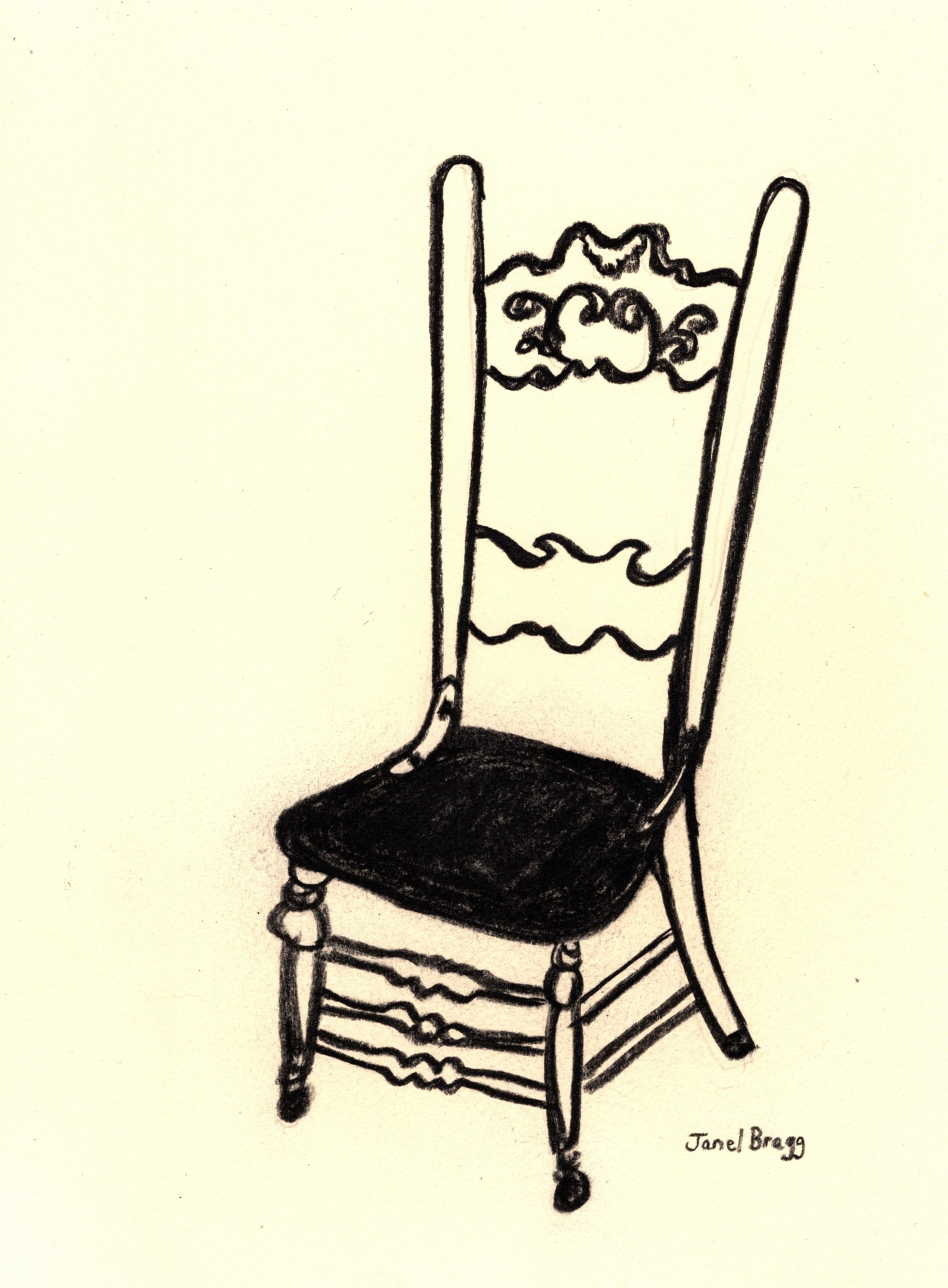 Janel Bragg - Antique Chair at the Palace Hotel 2