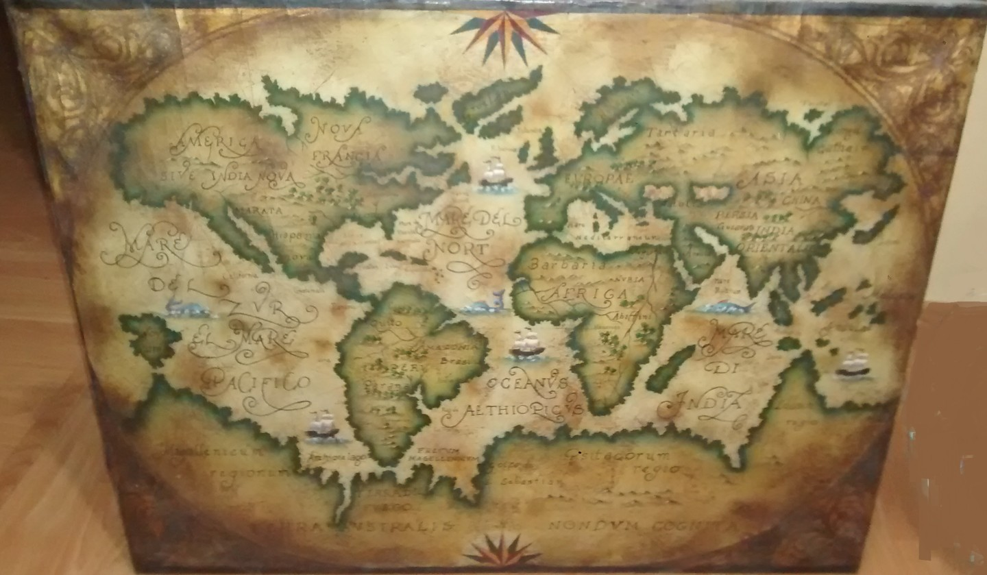 Ancient Map Painting By Noriega Art