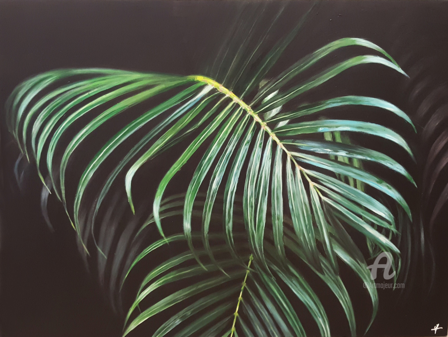 Palm Tree Leaves Painting By Maelle Valantin Artmajeur