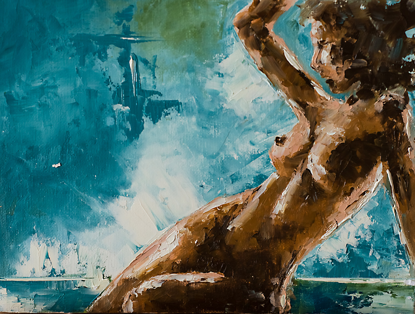 Blue naked women Naked Woman In Blue Painting By Marinko Saric Artmajeur