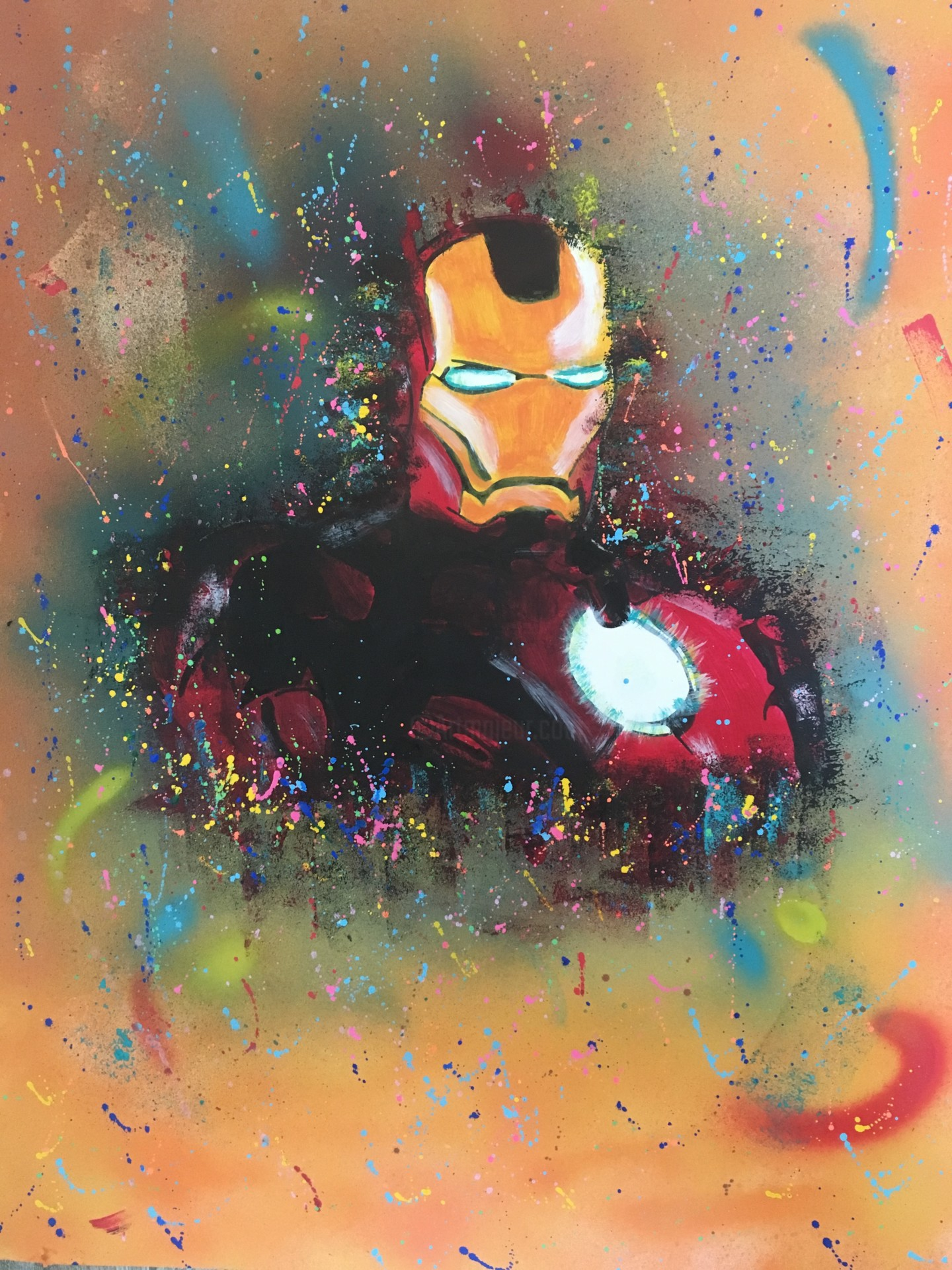 Belle Iron Man Painting by Mbkza | Artmajeur ET-22