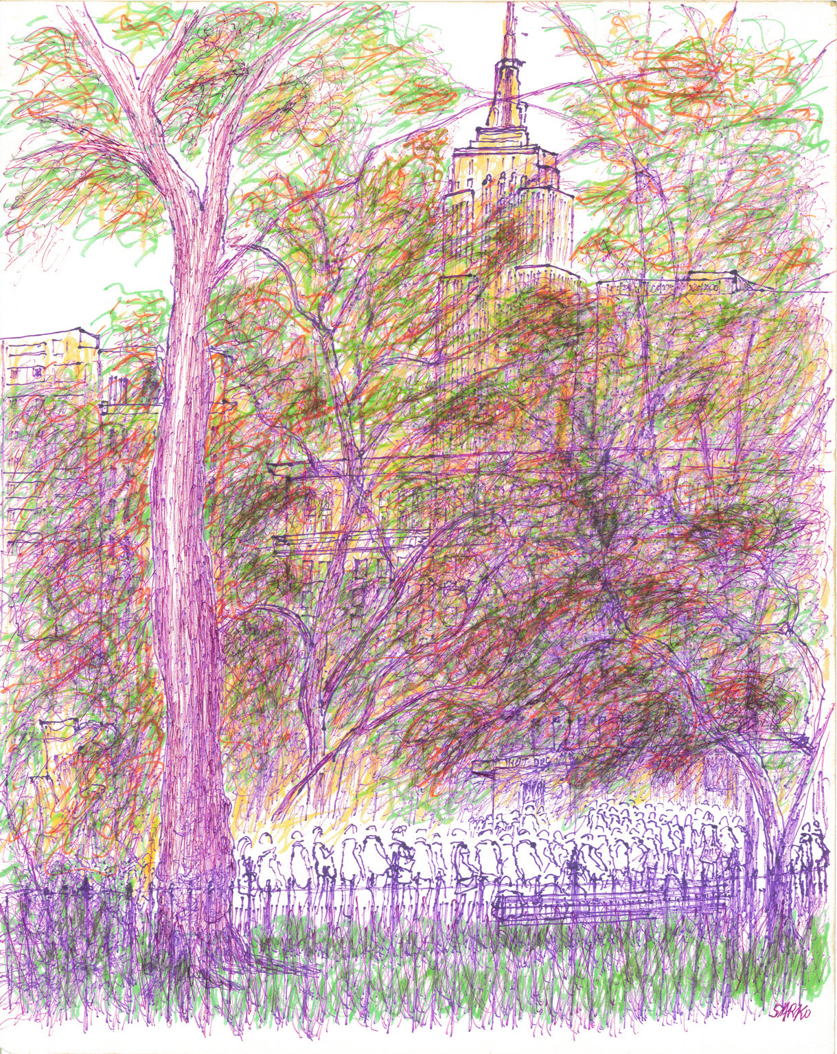 E 23rd St To Madison Park Drawing By Sarko Of New York Artmajeur
