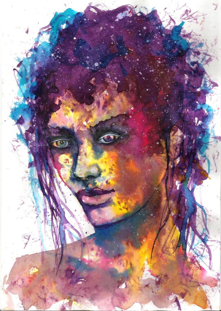 Women face watercolour Painting by Natalja Picugina ...
