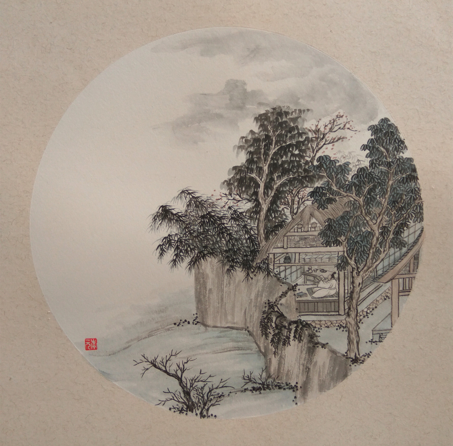 Picture of: Bamboo House Drawing By Yuan Li Artmajeur