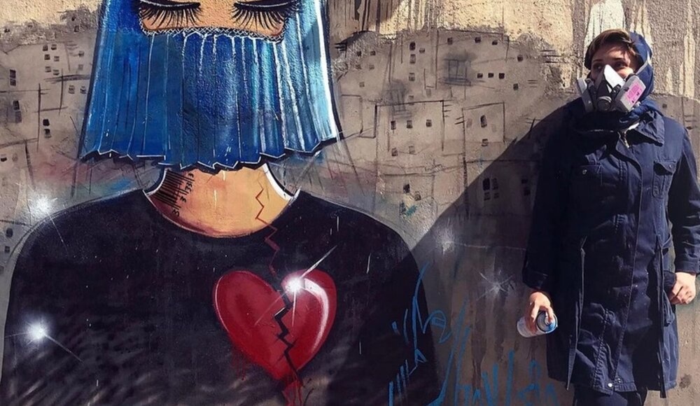 In Afghanistan, the first female street artist taunts the Taliban