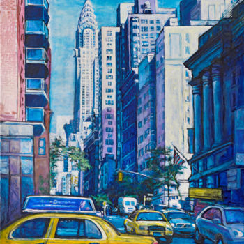 """Painting titled """"Chrysler building N…"""" by Patricia Clements Art, Original Art, Oil Mounted on Stretcher frame"""