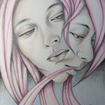 """Drawing titled """"Delicate - graphite…"""" by Adelacreative, Original Art, Pencil"""