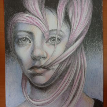 """Drawing titled """"EYES - GRAPHITE AND…"""" by Adelacreative, Original Art, Pencil"""