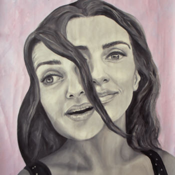 """Painting titled """"Portrait Duality Lo…"""" by Adelacreative, Original Art, Oil"""