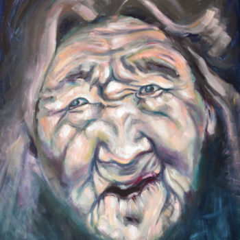 """Painting titled """"Portrait painting o…"""" by Adelacreative, Original Art, Oil"""