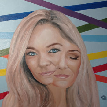 """Painting titled """"Girl with chakras"""" by Adelacreative, Original Art, Oil"""