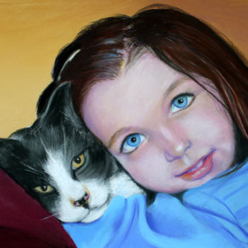 """Painting titled """"Tout mignon..."""" by Adyne Gohy, Original Art, Pastel"""