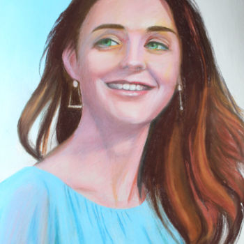 Painting, pastel, figurative, artwork by Adyne Gohy