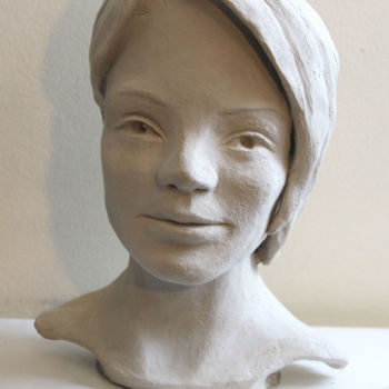 """Sculpture titled """"Une belle inconnue"""" by Adyne Gohy, Original Art, Clay"""