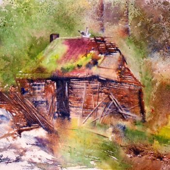 Painting, watercolor, impressionism, artwork by Adyne Gohy