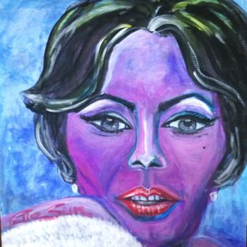 """Painting titled """"Madame"""" by Elle Sun, Original Art, Acrylic Mounted on Stretcher frame"""