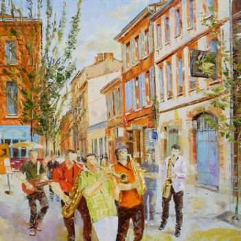 Painting, oil, impressionism, artwork by Alain Muller