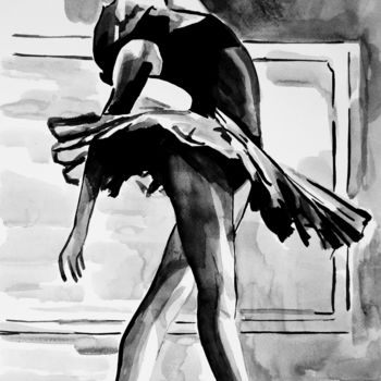 Drawing, ink, figurative, artwork by Alexandra Djokic