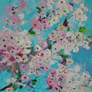 Painting, oil, abstract, artwork by Alena Shymchonak