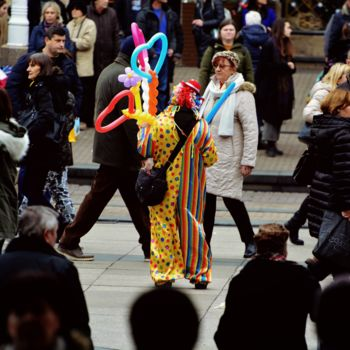 """Photography titled """"Clown"""" by Alen Gurovic, Original Art, Non Manipulated Photography"""