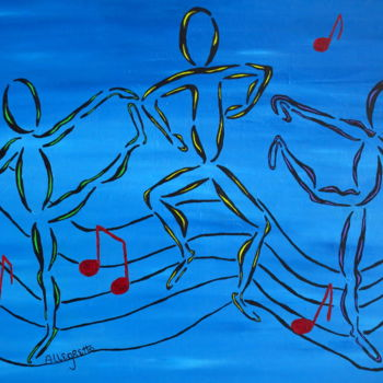"""Painting titled """"Dance Fever 2"""" by Allegretto, Original Art, Acrylic"""