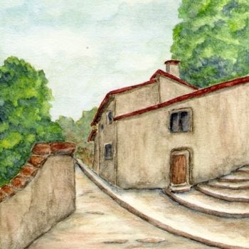 Painting, watercolor, artwork by Allegretto