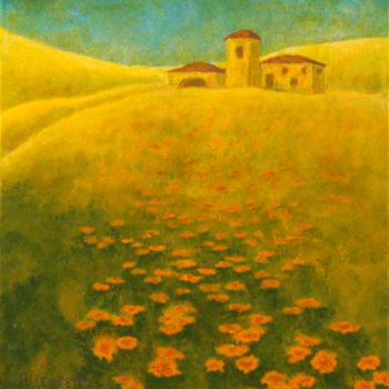 Painting, acrylic, impressionism, artwork by Allegretto
