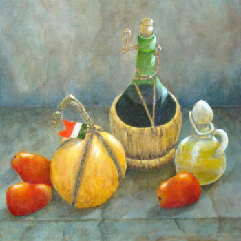 Painting, oil, hyperrealism, artwork by Allegretto