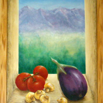 Painting, acrylic, hyperrealism, artwork by Allegretto