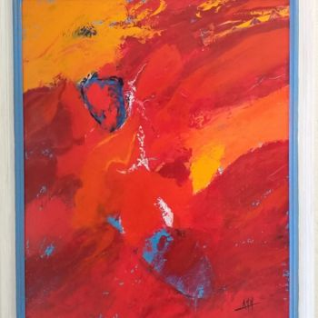 """Painting titled """"Incandescence"""" by Anne-Marie Mailliere, Original Art, Acrylic"""
