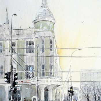 Painting, watercolor, artwork by Andrew Lucas