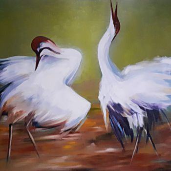 """Painting titled """"Love or quarrel"""" by Andriy Maslyanko, Original Art, Oil Mounted on Stretcher frame"""