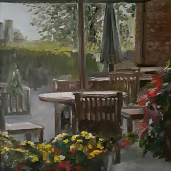 """Painting titled """"For a moment to rain"""" by Andriy Maslyanko, Original Art, Oil Mounted on Stretcher frame"""