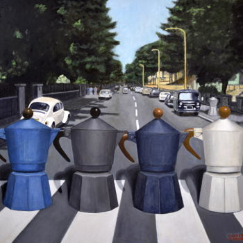 """Painting titled """"ABBEY ROAD"""" by Andrea Vandoni, Original Art, Acrylic"""