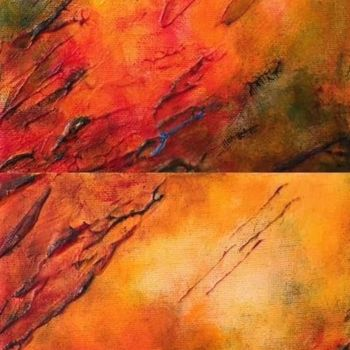 """Painting titled """"Turn the Page (Dipt…"""" by Angie Chapman, Original Art, Acrylic"""