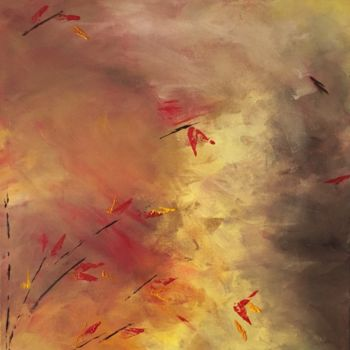 """Painting titled """"Fall of Nature I"""" by Angie Chapman, Original Art, Acrylic"""