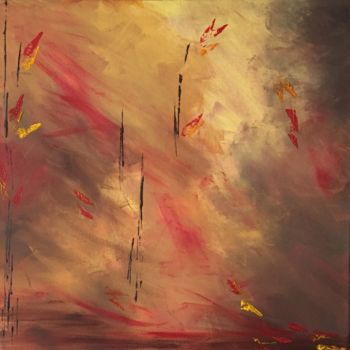 """Painting titled """"Fall of Nature II"""" by Angie Chapman, Original Art, Acrylic"""