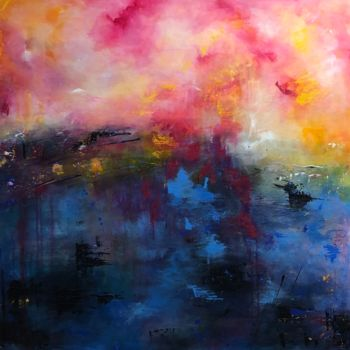 """Painting titled """"Sea of Tranquility"""" by Angie Chapman, Original Art, Acrylic Mounted on Wood Panel"""