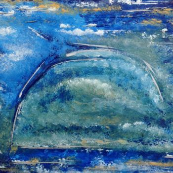 """Painting titled """"In The Mist"""" by Angie Chapman, Original Art, Acrylic"""