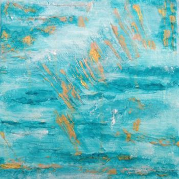 """Painting titled """"Sea and Sand 2"""" by Angie Chapman, Original Art, Acrylic"""
