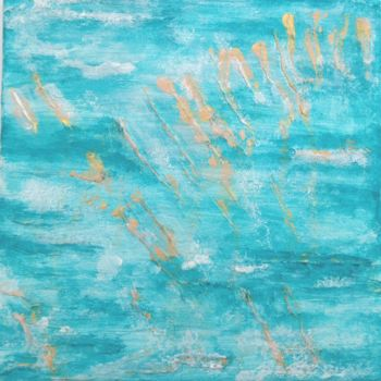"""Painting titled """"Sea and Sand 1"""" by Angie Chapman, Original Art, Acrylic"""