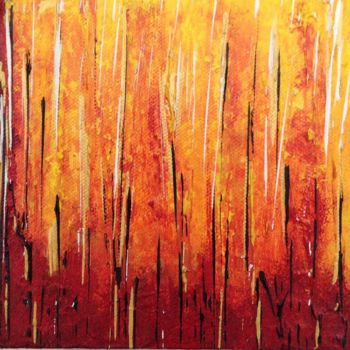 """Painting titled """"On Fire"""" by Angie Chapman, Original Art, Acrylic"""