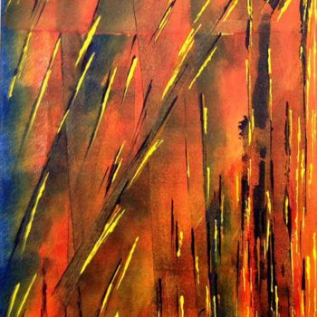 """Painting titled """"Firecrackers"""" by Angie Chapman, Original Art, Acrylic"""