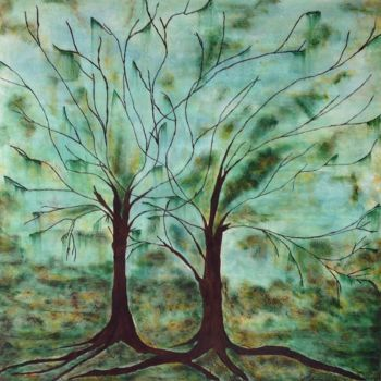 """Painting titled """"Intertwined"""" by Angie Chapman, Original Art, Acrylic"""