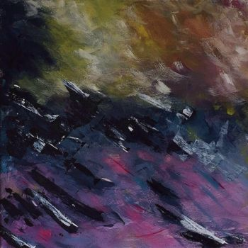 """Painting titled """"raging-seas-left-si…"""" by Angie Chapman, Original Art, Acrylic"""