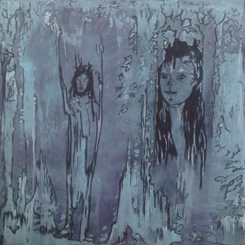 """Painting titled """"Looking in a Parall…"""" by Angie Chapman, Original Art, Other"""